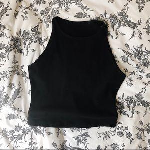 American Apparel Sleeveless Cotton Jersey Crop Top
